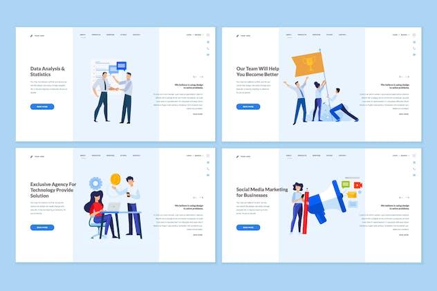 Set of Website Template Designs
