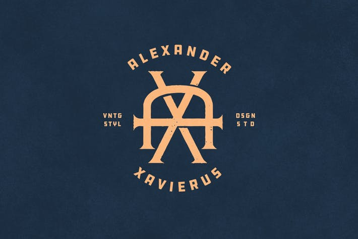 Cover Image For AX Vintage Monogram Logo