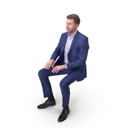 Geschäftsmann sitzend