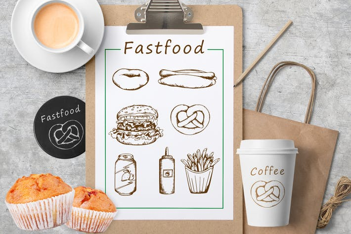 Thumbnail for Vintage Hand Drawn Fast Food