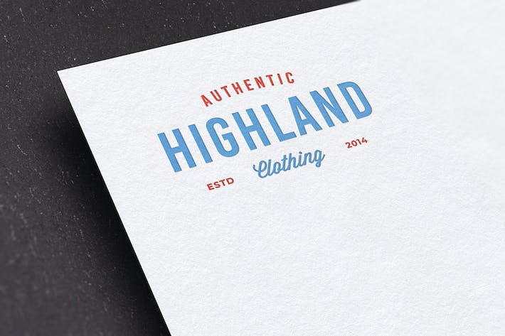 Thumbnail for Letterpress Logo Mockup