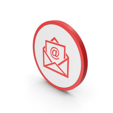 Icon Email Envelope Red