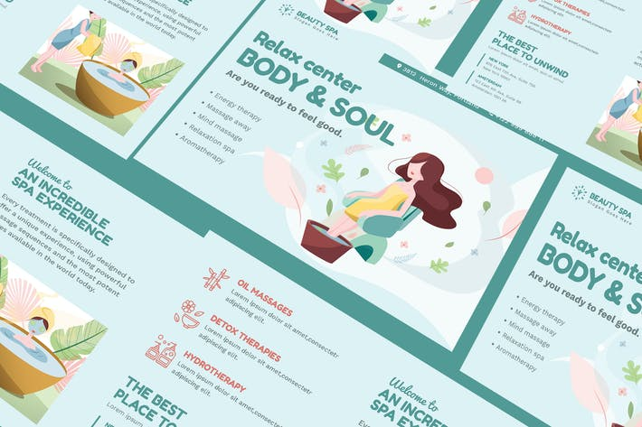 Thumbnail for Beauty Spa A5 Business Flyer PSD Template