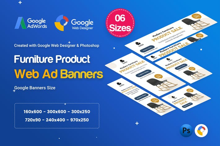 Thumbnail for Furniture Product Banners Ad D29 - GWD
