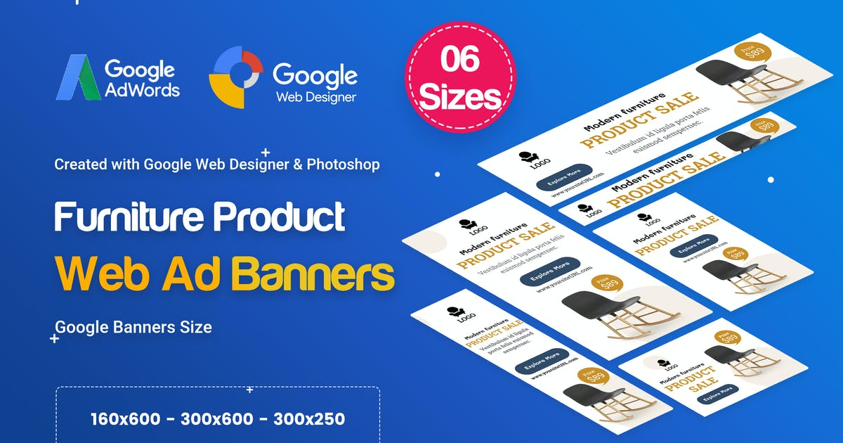 Download Furniture Product Banners Ad D29 - GWD by iDoodle