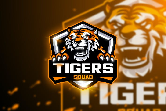 Thumbnail for Tigers Squad - Mascot & Esport logo