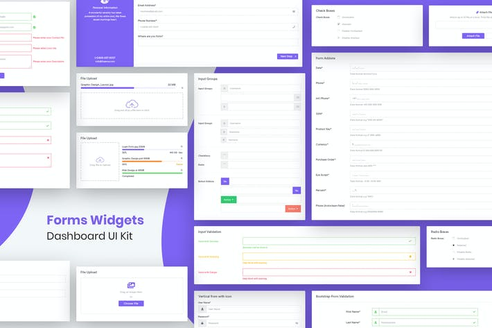 Thumbnail for Forms Widgets Dashboard Ui Kit