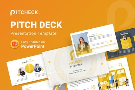 Pitcheck – Pitch Deck PowerPoint Template
