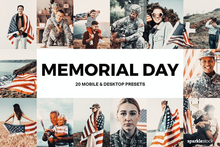 Thumbnail for 20 Memorial Day Lightroom Presets and LUTs