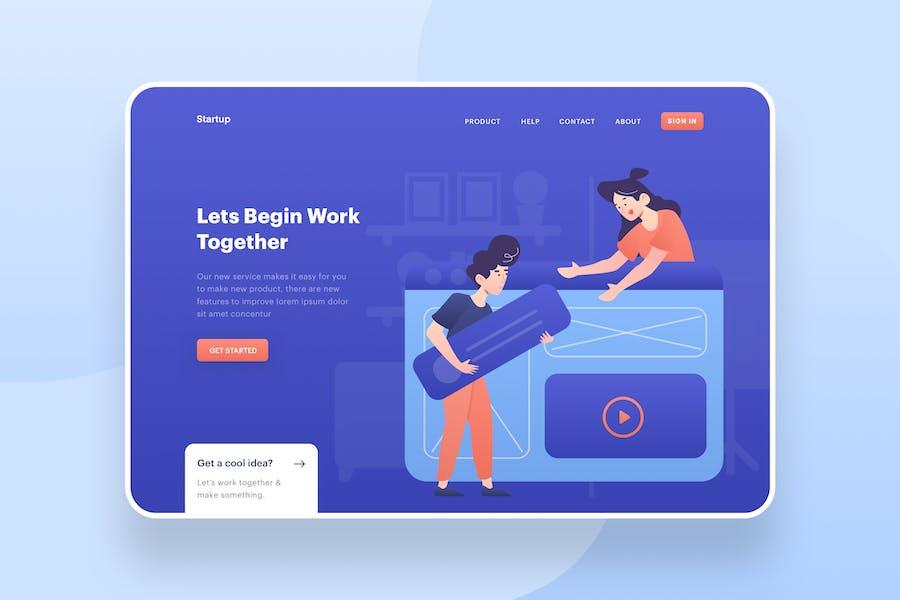 Work Together Illustration - Website Header