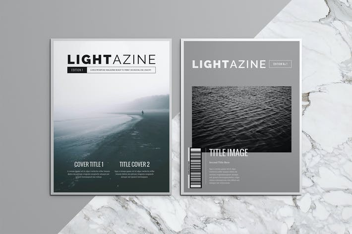Cover Image For Lightazine Indesign Template