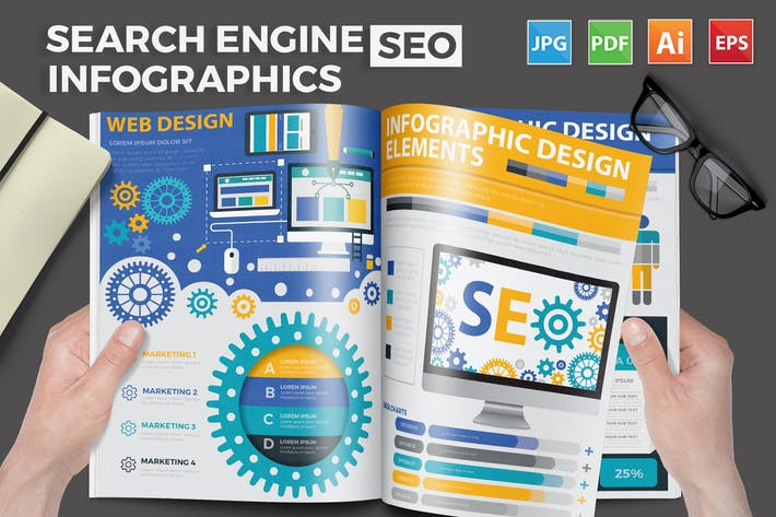 Thumbnail for SEO Search engine Infographics