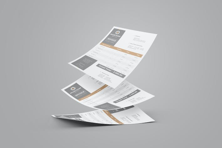 Thumbnail for Clean Invoice Design With Grey Accent