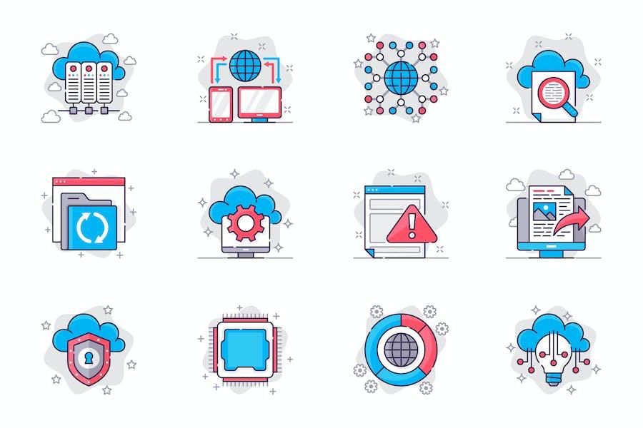 Cloud Technology Icons Set