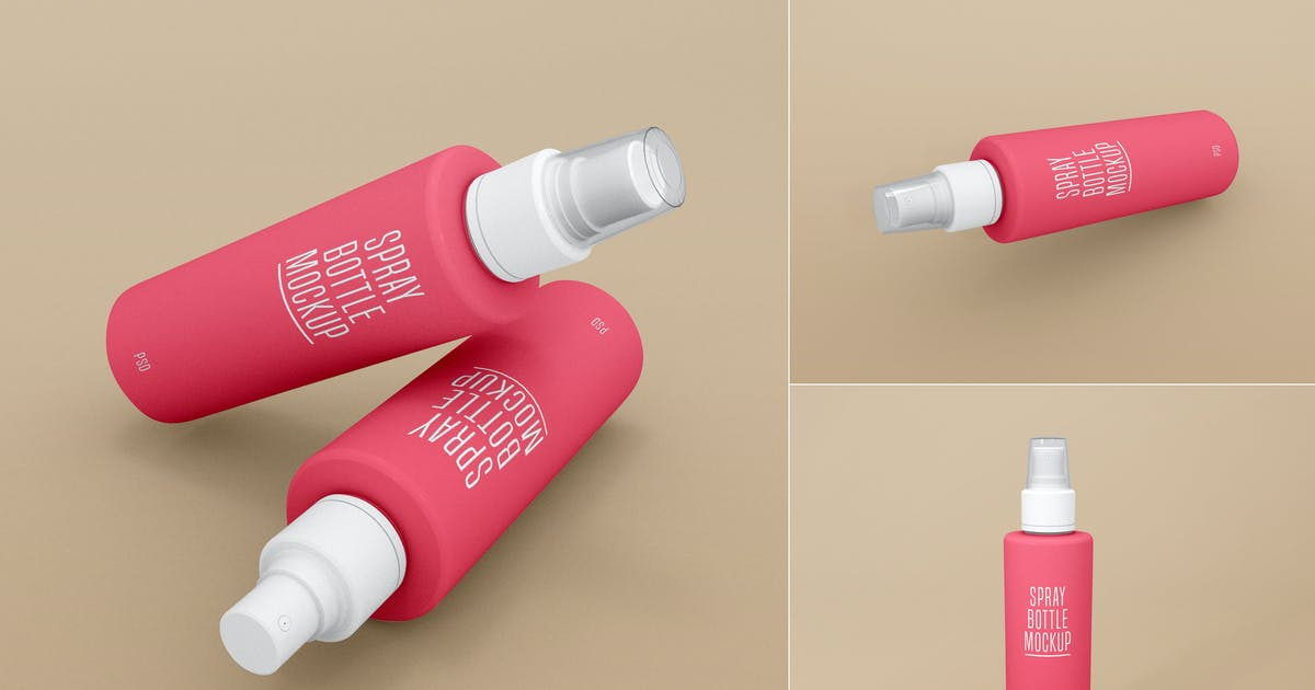 Download Spray Bottle Mockup - Vol 01 by xvector-team