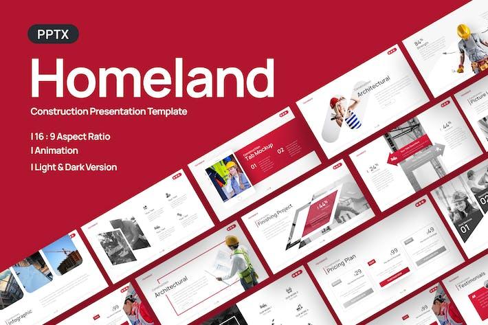 Homeland Construction Powerpoint Template