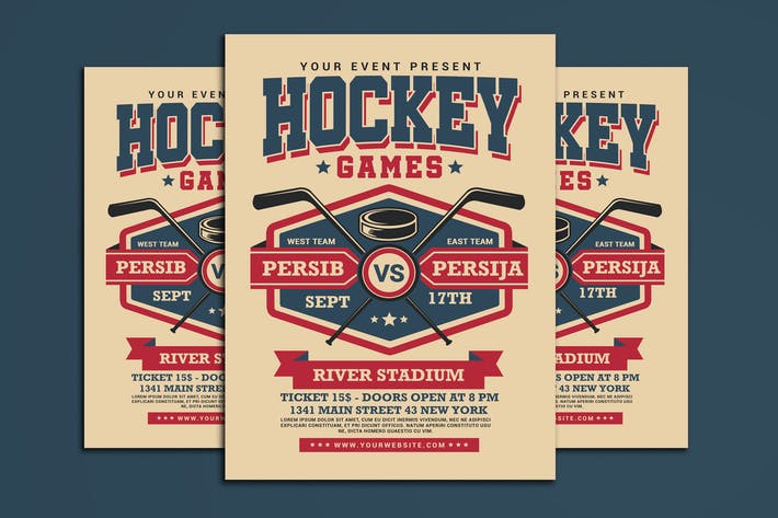 Thumbnail for Hockey Game Flyer