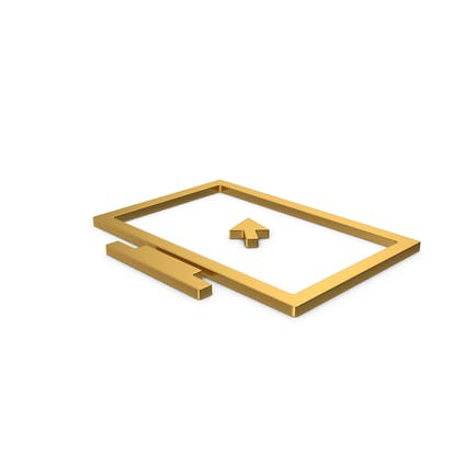 Gold Symbol Monitor With Arrow