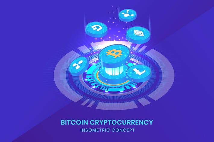 Thumbnail for Cryptocurrency - Insometric Vector