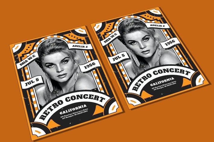 Retro Concert Flyer