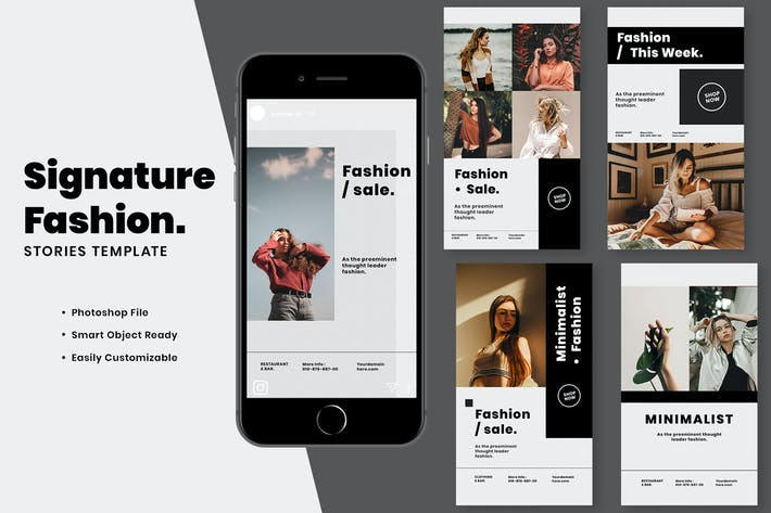 Thumbnail for Signature Fashion Instagram Stories Template