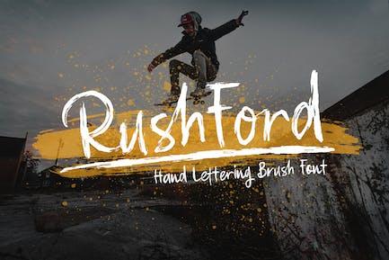 RushFord - Шрифт надписи кистей