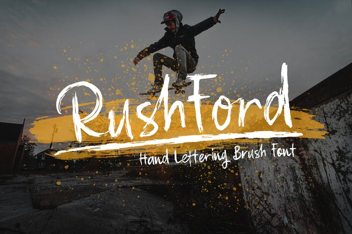 Thumbnail for RushFord - Fuente de letras de pincel