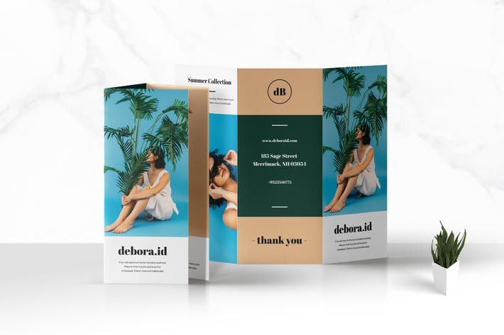 Thumbnail for Trifold Fashion Business Brochure