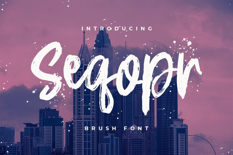 Seqopr---The-Brush-Font