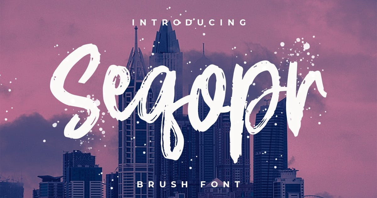 Download Seqopr - The Brush Font by Graphicfresh