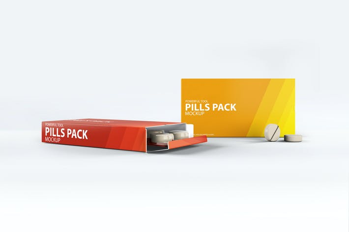 Thumbnail for Pills Package Blister Box Mock-up