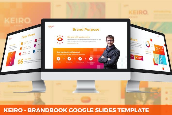 Thumbnail for Keiro - BrandBook Google Slides Template