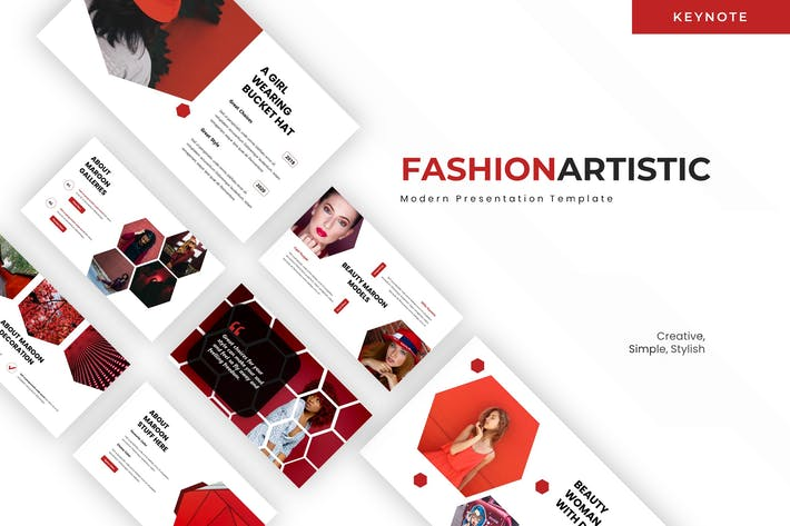 Thumbnail for Fashion Artistic - Keynote Template