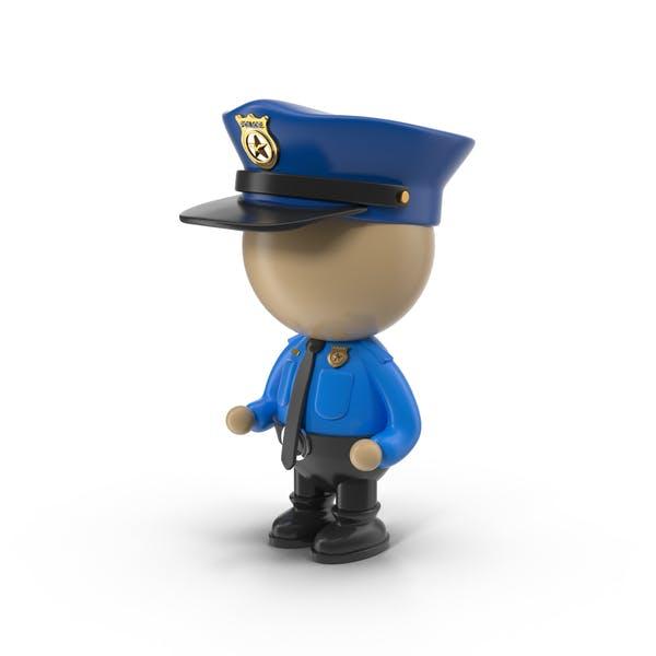 Cartoon Policeman Character