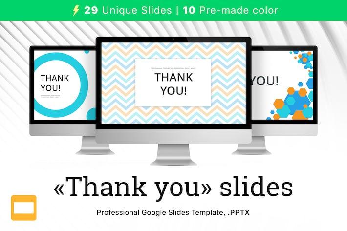 Thumbnail for Спасибо слайды для Google слайдов