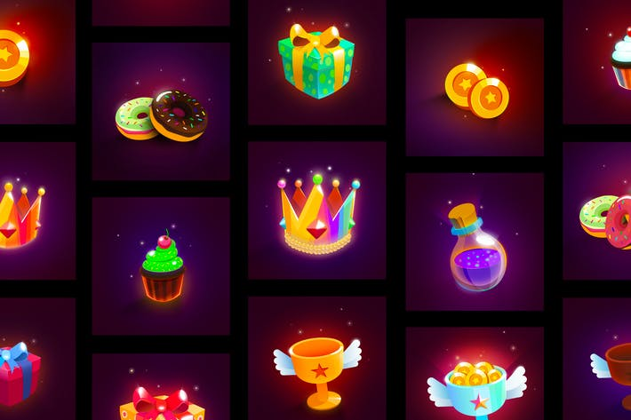 Thumbnail for Colorful Game Icons