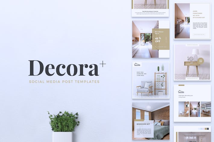 Thumbnail for DECORA Interior Instagram & Facebook Post
