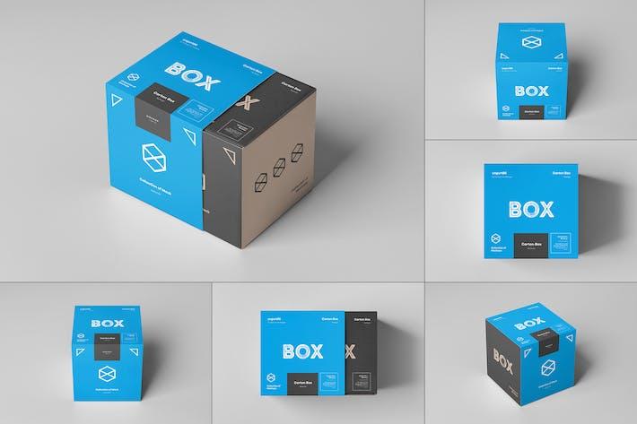 Thumbnail for Carton Box Mockup 100x100x100 & Wrapper