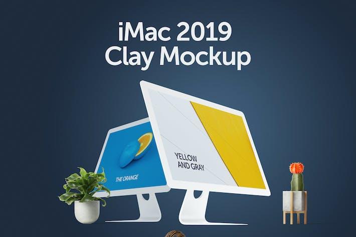 Thumbnail for iMac 2019 Clay Mockup