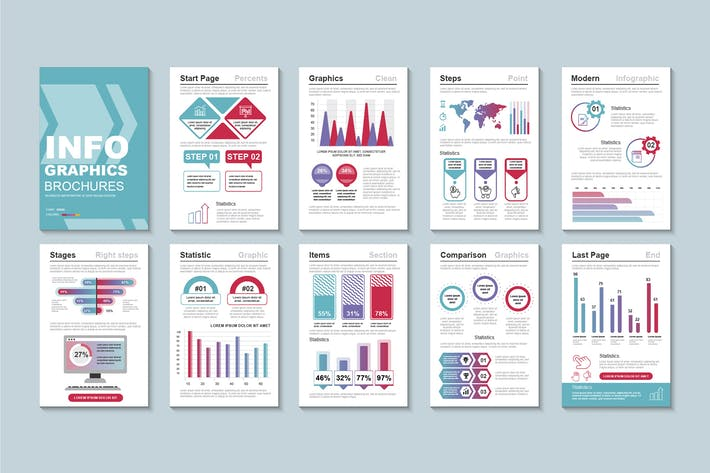 Thumbnail for Business Infographic Brochure Design Template