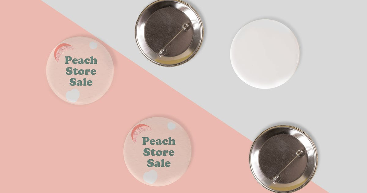 Download Pin Buttons Mock Up by RetroBox