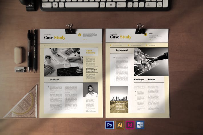 Thumbnail for Case Study Template Vol.4