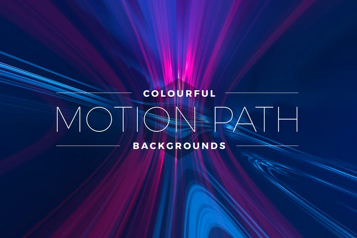 Cover Image For Colorful Motion Path Backgrounds