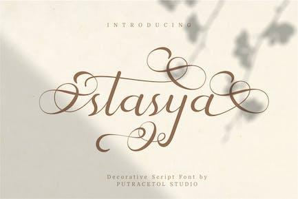 Stasya - Decorative Swirl Font