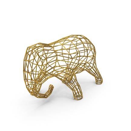 Goldener Draht-Elefan