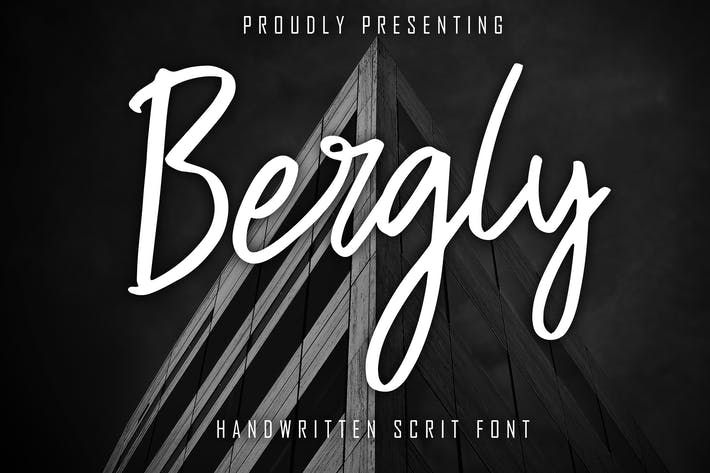 Thumbnail for Bergly Handwritten Script