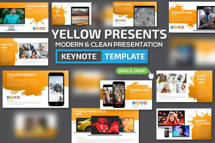 Thumbnail for Yellow Slides Keynote Presentation