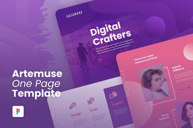 Artemuse - One Page Portfolio Template