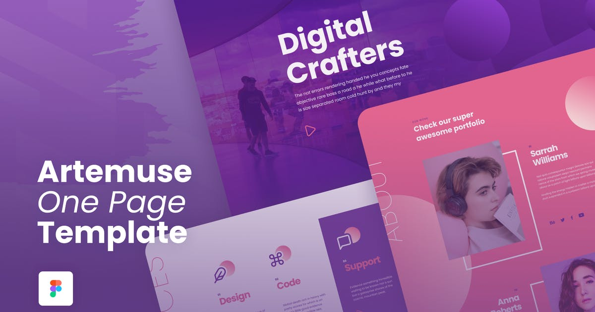 Download Artemuse - One Page Portfolio Template by CocoBasic