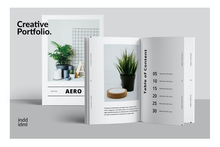 Thumbnail for AERO Minimal Design Brochure